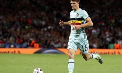 Thomas Meunier est resté aux soins pour le 1er entraînement de la Belgique