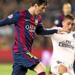 Lionel Messi vs Marco Verratti 1/8 Champions League