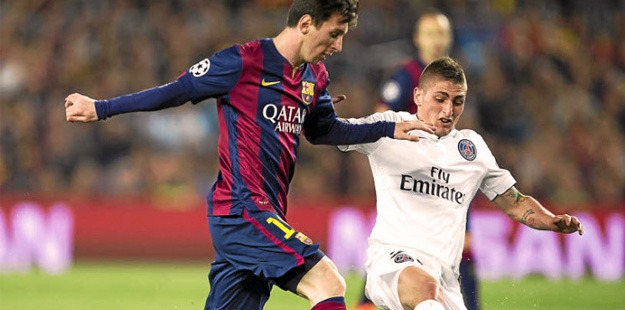 Lionel Messi vs Marco Verratti 1/8 Champions League