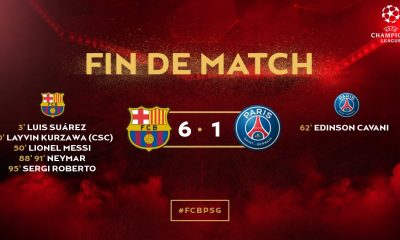 FC Barcelone/PSG : Le résumé de cette défaite historique Parisienne