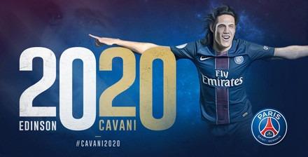 Le PSG annonce la prolongation de contrat d'Edinson Cavani jusqu'en 2020 !