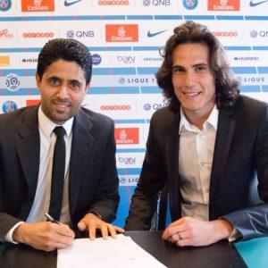 Edinson Cavani signature prolongation de contrat Nasser Al-Khelaïfi