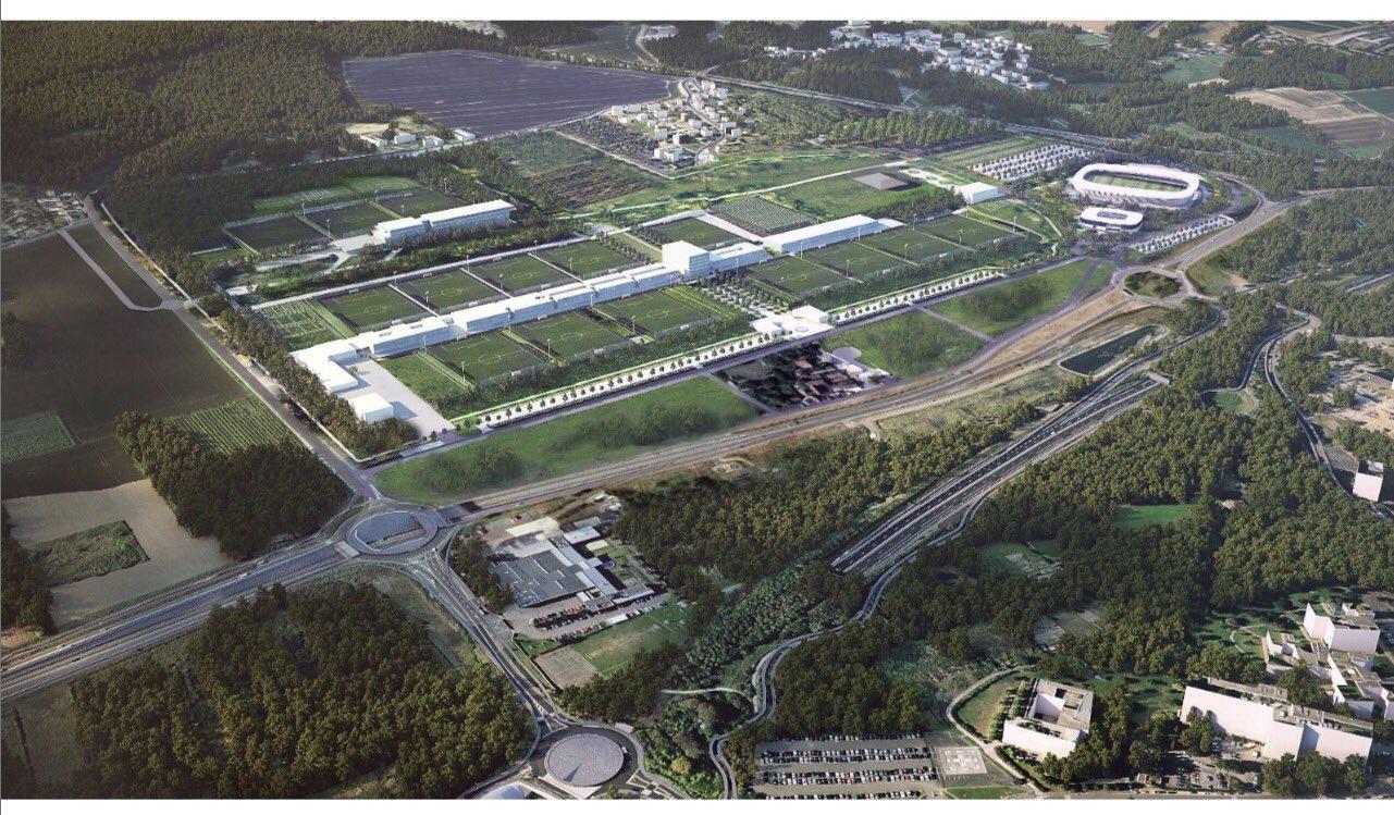 Le PSG a présenté les idées et images à Poissy pour son nouveau centre d'entraînement