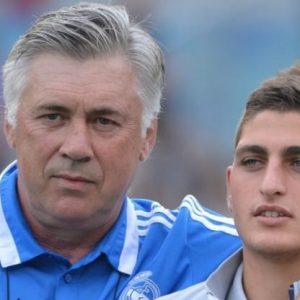 """Ancelotti """"Il n'y a qu'un seul problème : Verratti joue au PSG et ils le tiennent bien serré"""""""