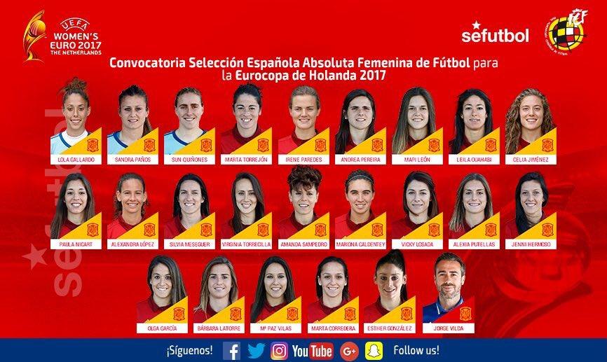 Féminines - Vero Boquete non sélectionnée par Espagne pour l'Euro 2017, Paredes si.jpg