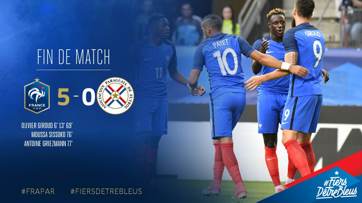 La France s'impose largement contre le Paraguay, Matuidi a joué 90 minutes et les autres Parisiens 0.jpg