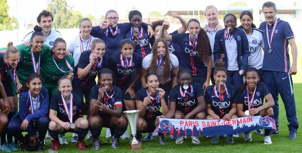 U19 - Les Parisiennes s'imposent aux tirs au but face à l'OL et conservent leur titre