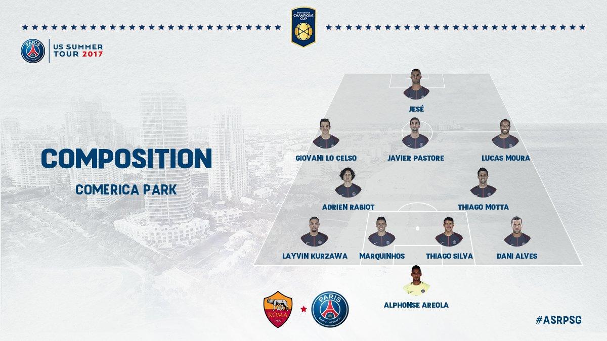 AS Rome/PSG - Les équipes officielles : Dani Alves titulaire
