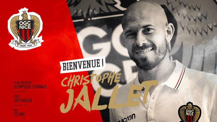 Anciens - Christopher Jallet quitte l'OL pour signer à Nice