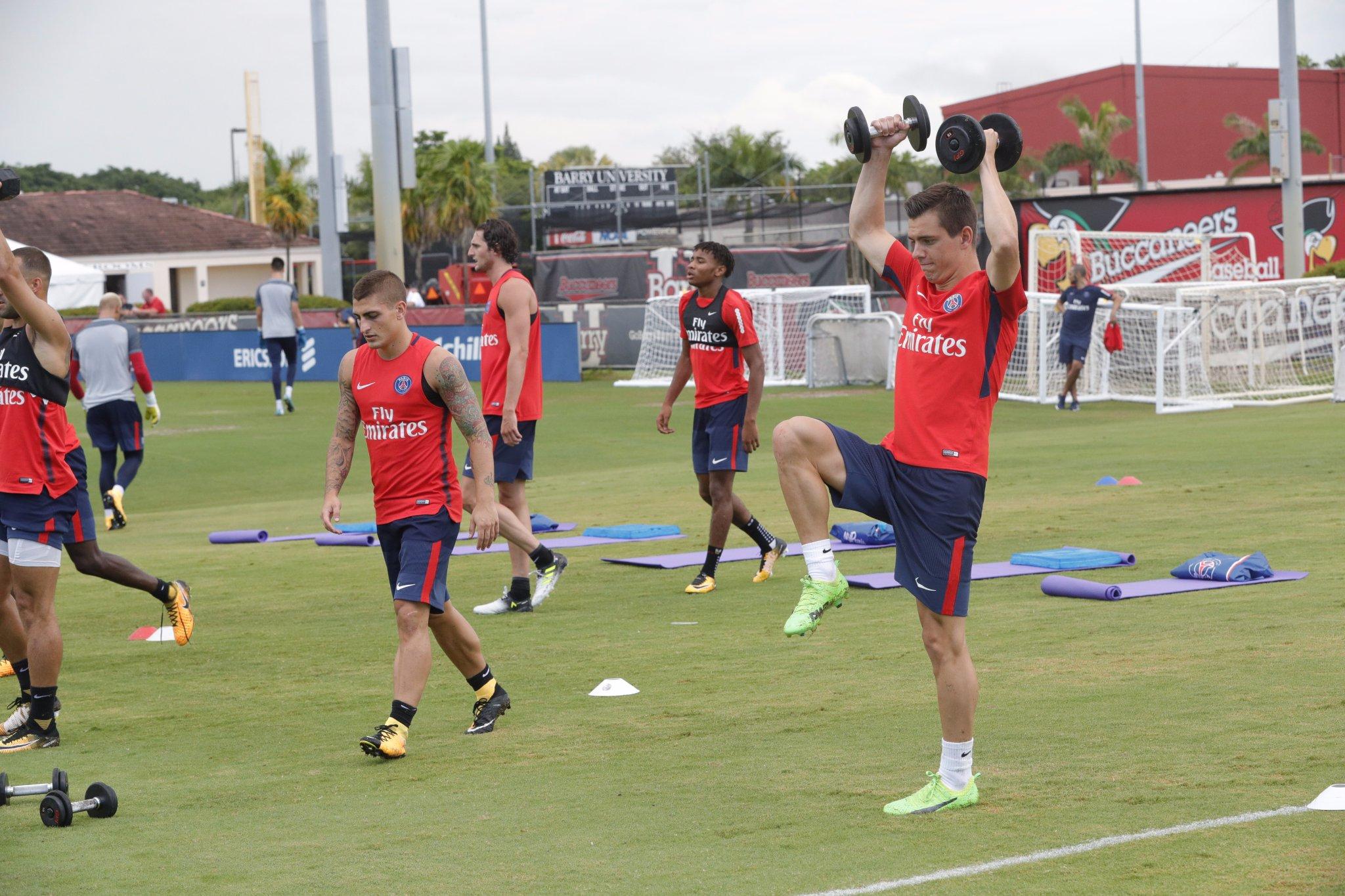 Les images du PSG ce dimanche : début du séjour et de l'entraînement aux USA !