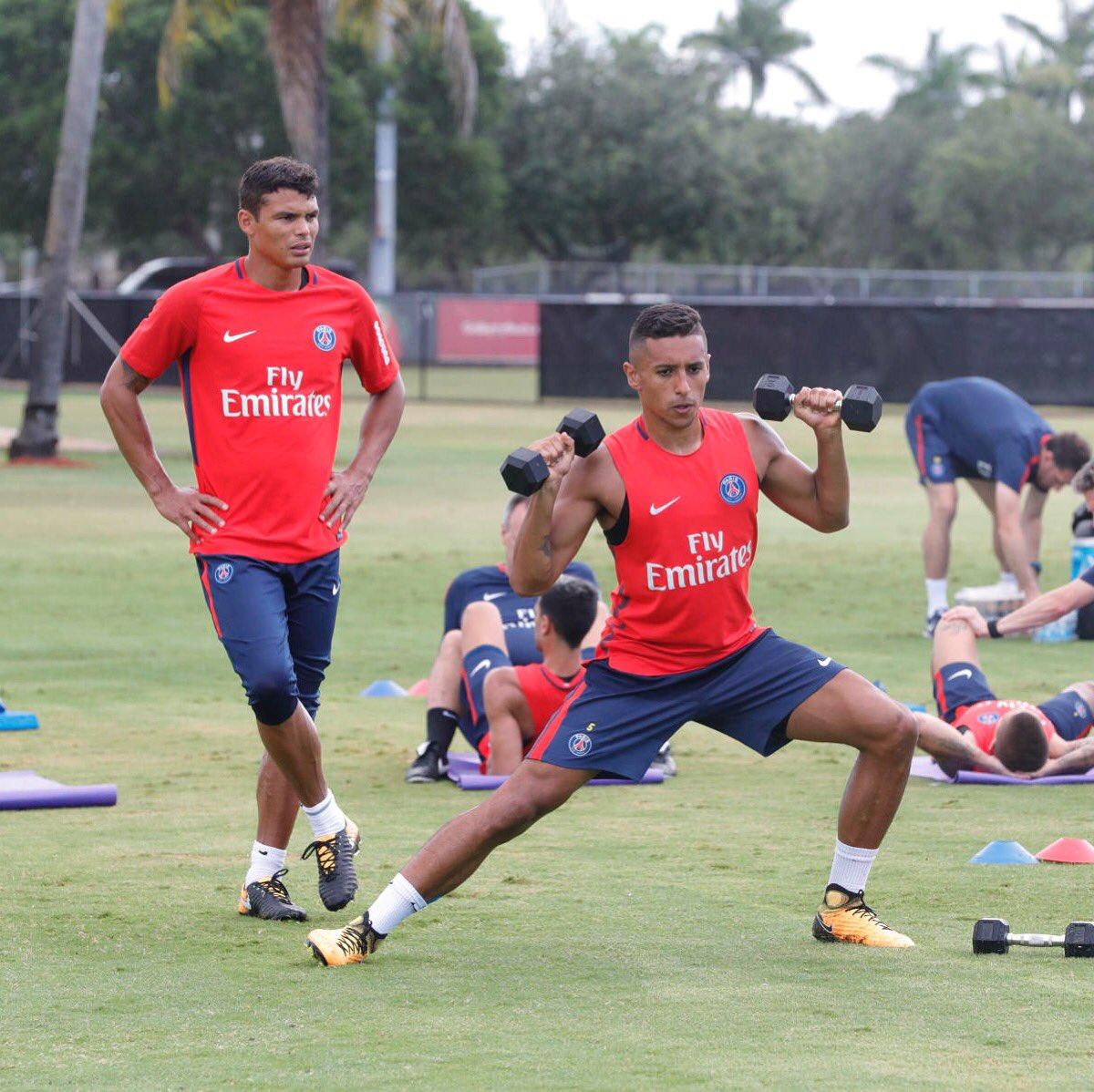 Les images du PSG ce dimanche encore de l'entraînement !