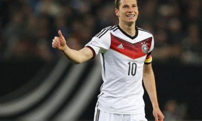Draxler est rentré en jeu lors de la victoire de l'Allemagne contre la République Tchèque