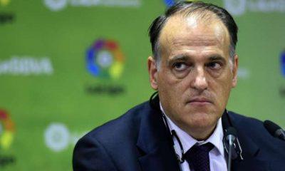"""Tebas """"J'avais dit à Al-Khelaïfi que je dénoncerais son club s'il au-delà de ses possibilités"""""""