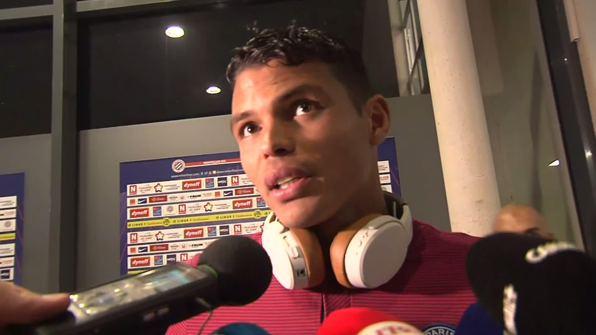 """Montpellier/PSG: Thiago Silva """" C'était impraticable. C'est impressionnant """""""