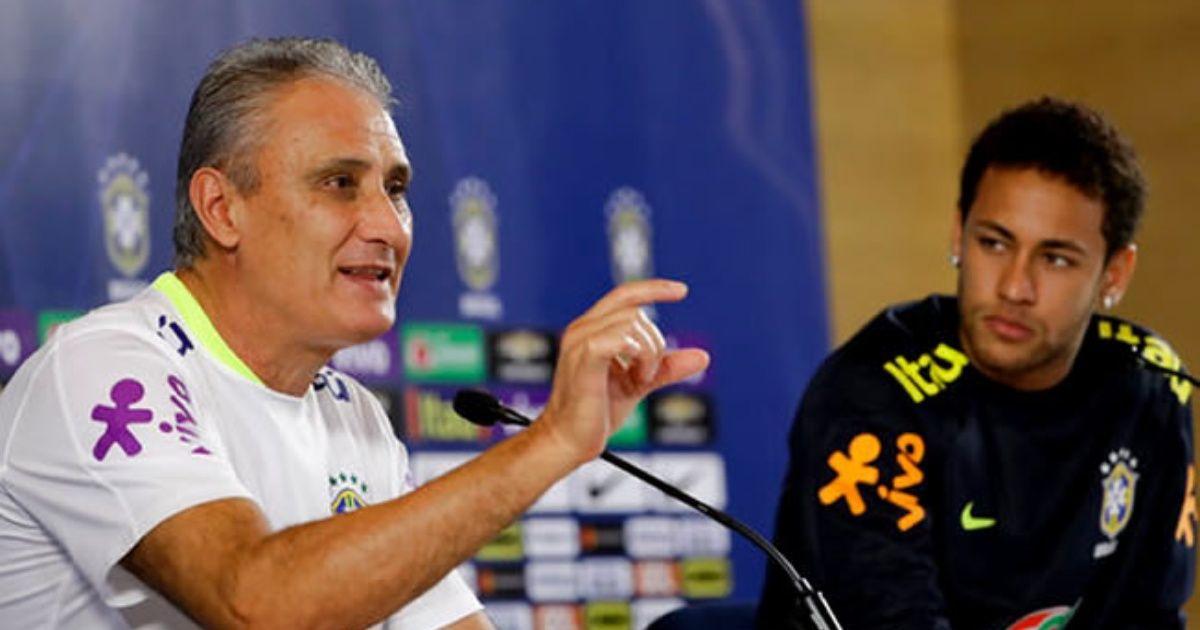 """Tite """"Neymar se sent plus à l'aise lorsqu'il peut jouer librement"""""""