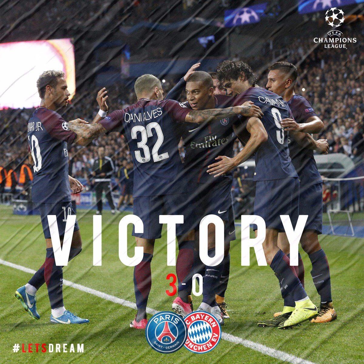 Les images du jour du PSG : Célébrations de la belle victoire contre le Bayern Munich