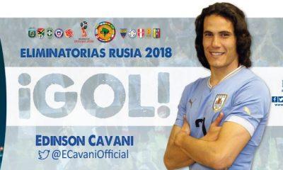 Cavani dans ses habitudes lors de la victoire de l'Uruguay, qualifié pour la Coupe du Monde