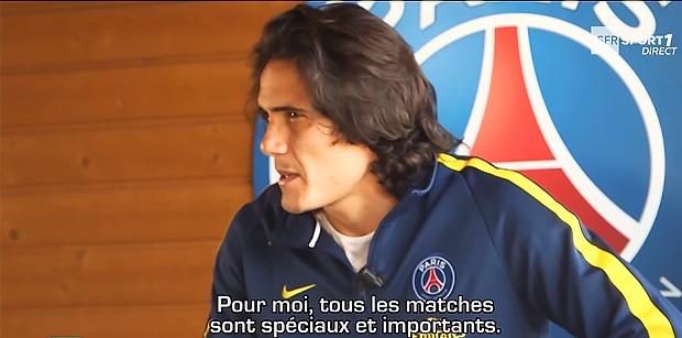 """Cavani """"le match contre l'Olympique de Marseille c'est spécial"""""""