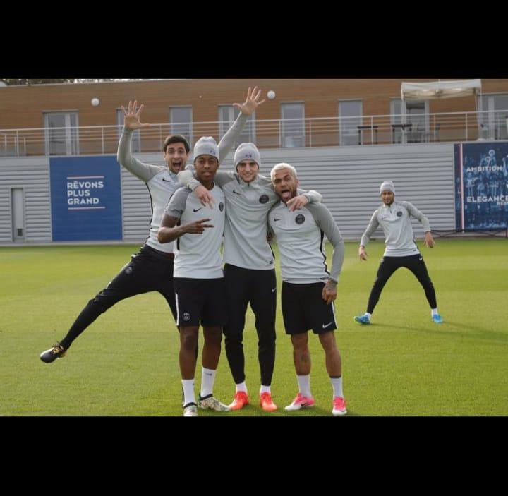Les images du PSG ce mardi prêts pour affronter Anderlecht !
