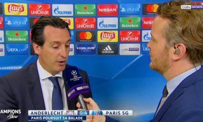 """Anderlecht/PSG: Emery """"C'était important de marquer au début"""""""
