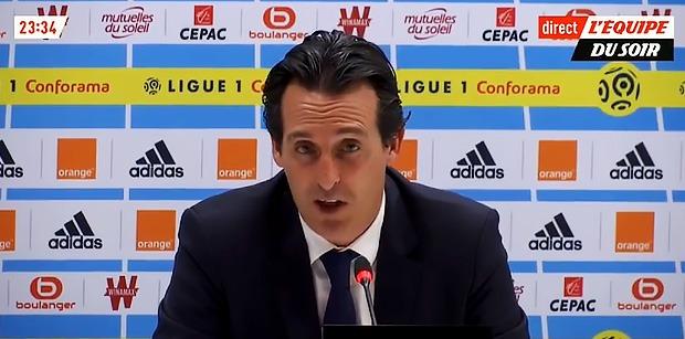 """OM/PSG: Emery """"Le match nul démontre notre caractère"""""""