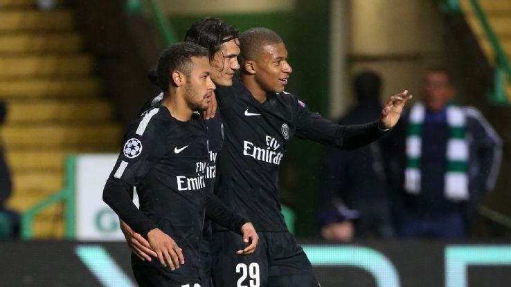 Eden Hazard Mbappé, Cavani et Neymar, c'est beau de les voir jouer ensemble