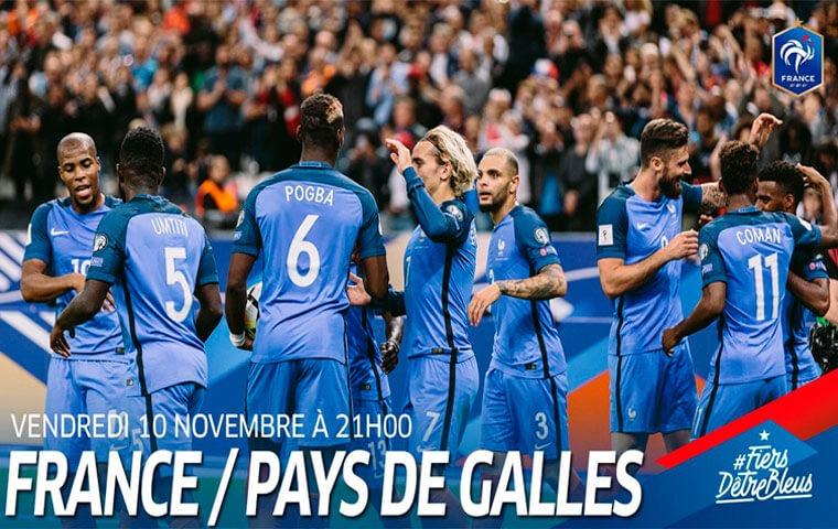 FrancePays de Galles - 2 joueurs du PSG titulaires dans le 4-4-2 des Bleus