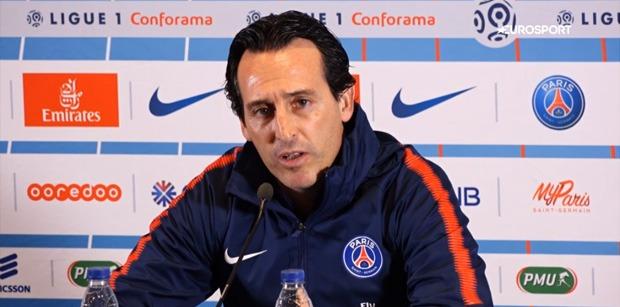 """AS Monaco/PSG - Emery """"Mbappé ? Dimanche, ce sera spécial mais je suis sûr qu'il se donnera à 100%"""""""