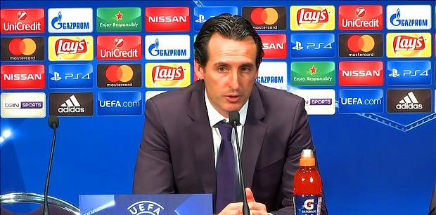 """PSG/Anderlecht - Emery """"L'objectif est de finir premier du groupe"""""""