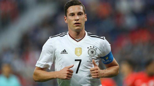 Julian Draxler termine 2e joueur allemand de 2017 derrière Joshua Kimmich