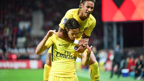 Neymar est dans le top 5 des passeurs pour Edinson Cavani au PSG