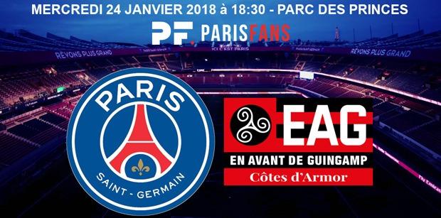 PSG/Guingamp - Les équipes officielles :