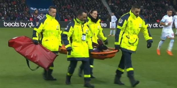 PSG/OM: Neymar blessure sortie sur civière