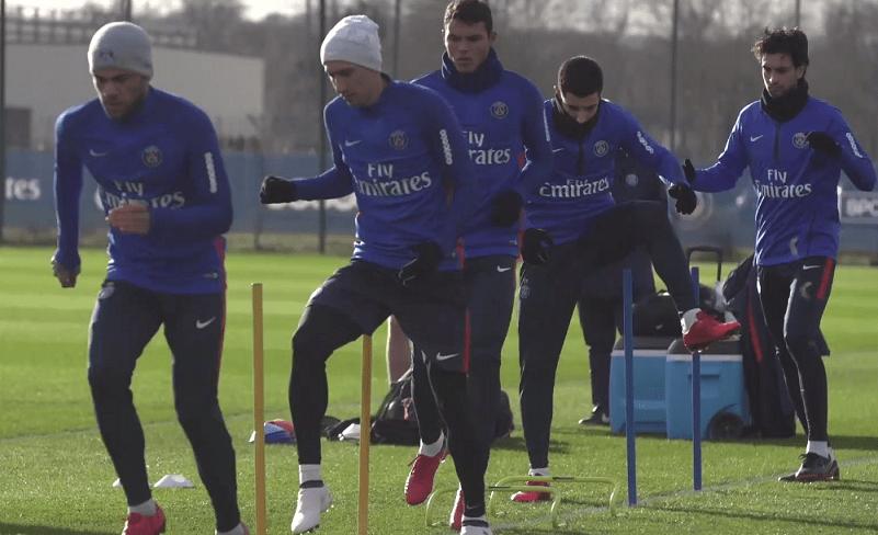 Toulouse/PSG - Tous les joueurs parisiens sont au dernier entrainement avant le voyage