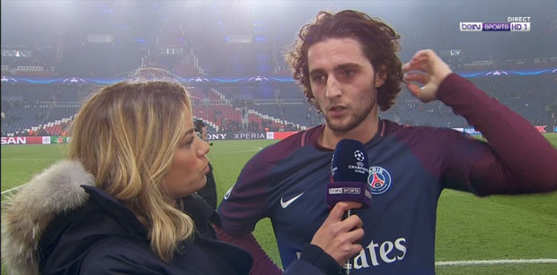 Adrien Rabiot réaction PSG/Real Madrid