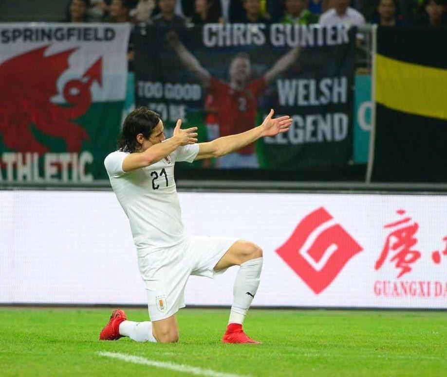 Grâce à un but de Cavani, l'Uruguay s'impose contre le Pays de Galles et remporte la China Cup
