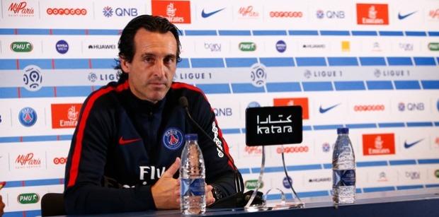 """Troyes/PSG - Emery """"J'espère avoir le plus de joueurs possibles disponibles pour mardi."""""""