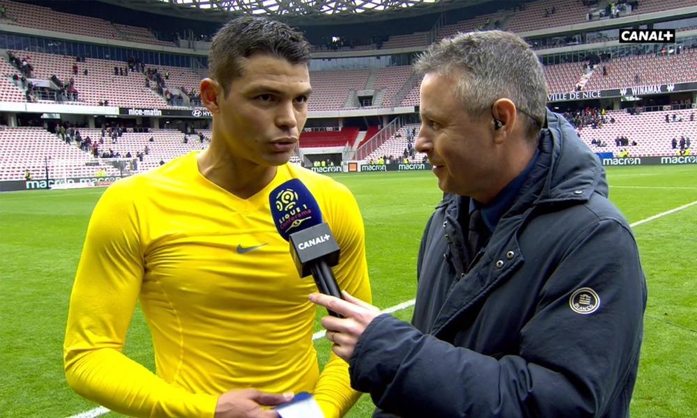 Thiago Silva réaction Nice/PSG