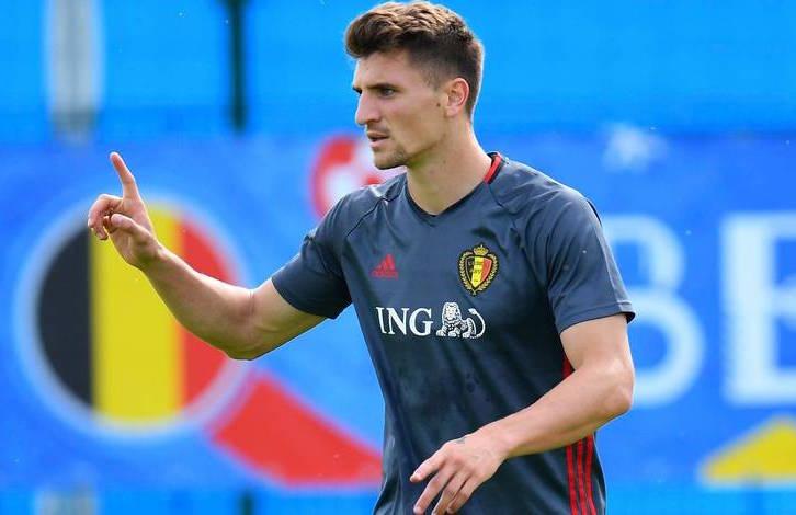 Thomas Meunier satisfaisant au cours de la victoire de la Belgique contre l'Arabie Saoudite