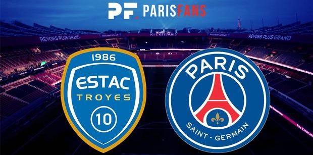 Troyes/PSG - Les équipes officielles :