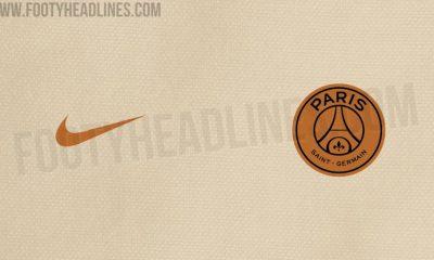 Le maillot du PSG crème et or à l'extérieur pour la saison suivante se confirme