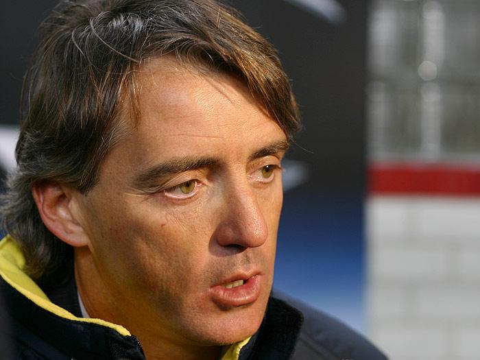 Roberto Mancini, sélectionneur de l'Italie, évoque Buffon et Verratti