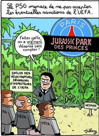Le Fair-Play Financier inspire un dessin humoristique à L'Equipe autour du PSG
