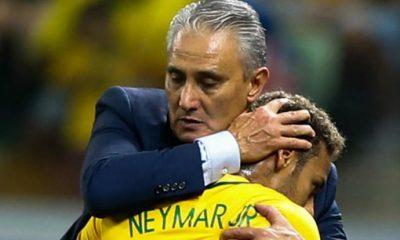 Tite aussi avoue qu'il n'espérait pas récuperer Neymar à ce niveau aussi vite