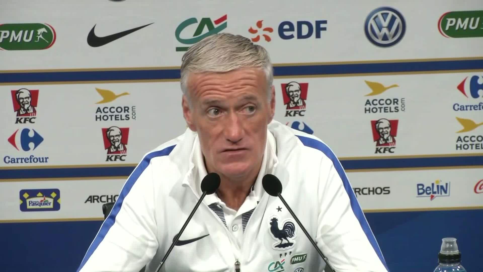 Deschamps Mbappé fait des choses que les autres joueurs ne font pas...Rabiot Il m'a profondément déçu
