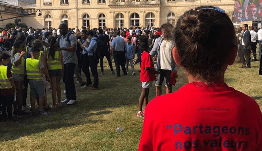 Des enfants de la Fondation PSG étaient à l'Élysée pour la célébration de la Coupe du Monde