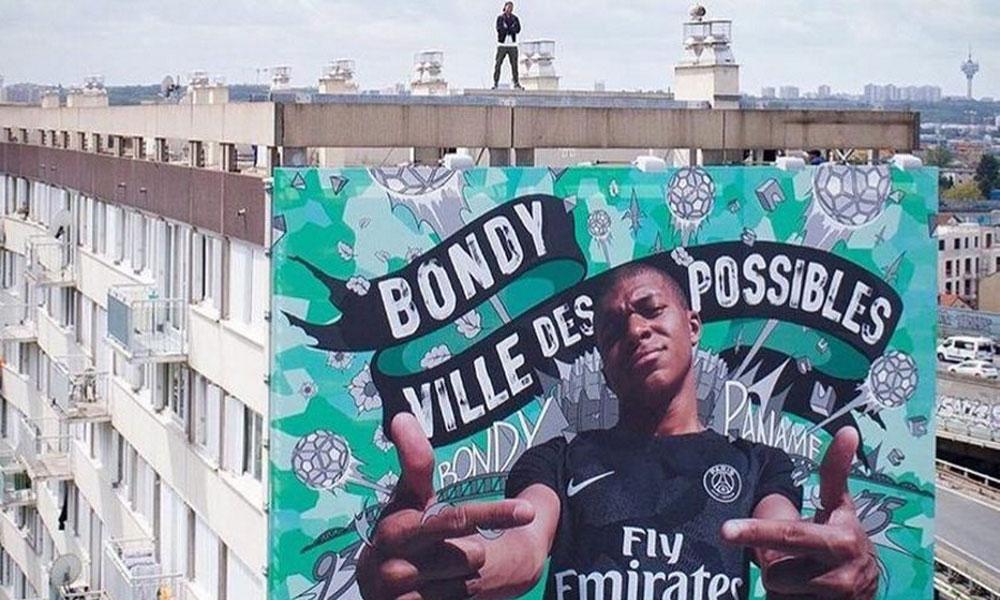 Fresque Mbappé Bondy