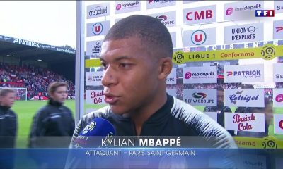 Kylian Mbappé zone mixte