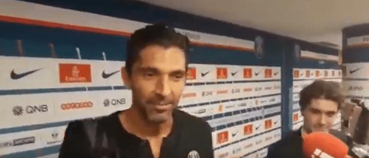 """PSG/Caen - Buffon """"Je suis très content du match de ce soir"""""""