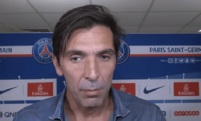 """PSG/Reims - Buffon """"C'est une belle soirée...J'ai la chance de jouer avec de grands champions"""""""